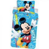Set lenjerie Mickey Glow in the Dark SunCity, 140 x 200 cm, bumbac, 2 piese, Multicolor