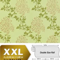 Tapet verde model floral cu finisaj metalic evidentiat 946-28