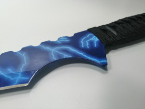 Sabie de vanatoare Samurai Blue Lightning maner textil 68.5 cm