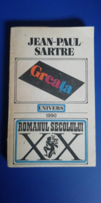 myh 712 - Greata - Jean Paul Sartre - editie 1990