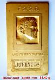 JUVENTUS Campionatul de tenis 1932 Placheta bronz aurit