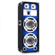 "Skytec 38cm (15"") subwoofer 2x25cm LED efect albastru 800W"