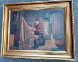 Ulei pe pânză o lucrare semnata veche de o foarte bună calitate, Portrete, Realism