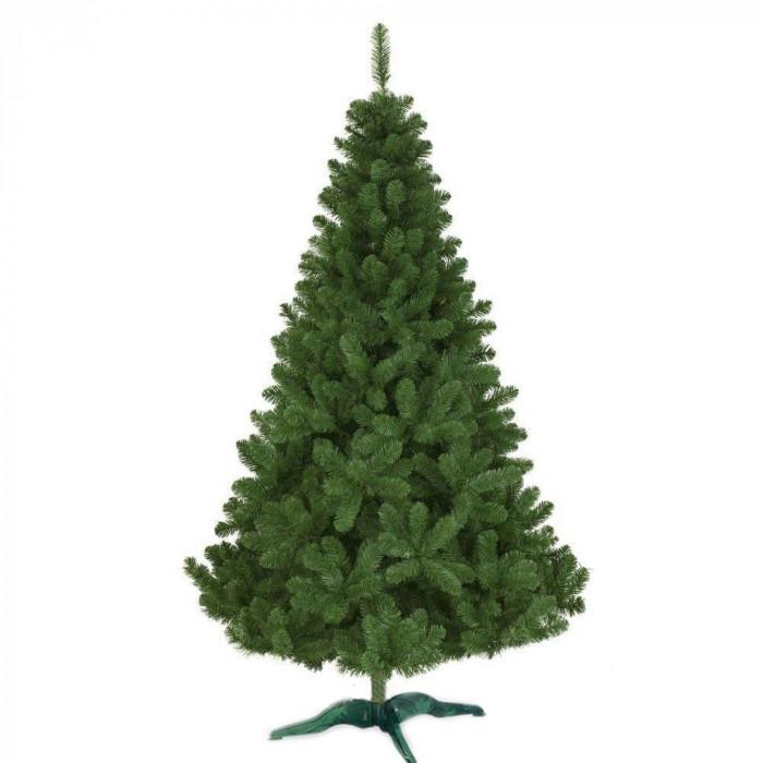 Brad artificial de Craciun, calitate Premium, suport inclus, 240 cm, verde