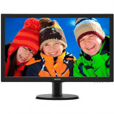 Monitor LED Philips 243V5LHSB/01 23.6 inch 1ms Black 60Hz