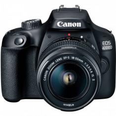 Aparat foto DSLR Canon EOS 4000D 18MP Black + Obiectiv EF-S 18-55 mm F/3.5-5.6 III
