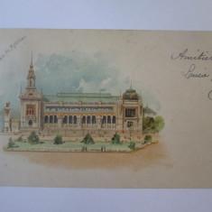 Carte postala circulata Paris-Expozitia Universala 1900,reclama crema Express