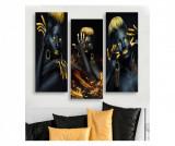 Cumpara ieftin Set 3 tablouri 20x50 cm - Dilly, Multicolor