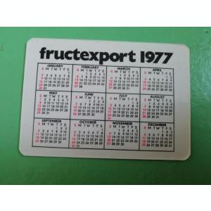 CCO 1977 - CALENDAR DE COLECTIE - TEMATICA  FLORI - ANUL 1977