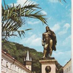 bnk cp Baile Herculane - Statuia lui Hercule - necirculata
