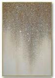 Tablou abstract auriu Pictura glitter 130x80cm, Ulei