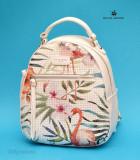Geanta sport dama David Jones 5923-2WHITE - Rucsac alb model Flamingo, Piele ecologica