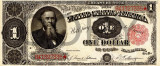 1 dolar 1891 Reproducere Bancnota USD , Dimensiune reala 1:1