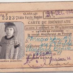 bnk  div CFR - carte de identitate 2 calatorii - 1948