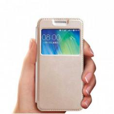 Cumpara ieftin Husa Samsung S9 Aurie Portofel cu Fereastra Carte Flip Book cu Inchidere Magnetica