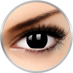 Crazy Blackout - lentile de contact colorate negre anuale - 90 purtari (2 lentile/cutie)
