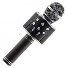 Cumpara ieftin Microfon Wireless Profesional Karaoke Cu Difuzor Bluetooth, Negru