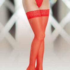 Ciorapi Cu Dantela 5514, Rosu