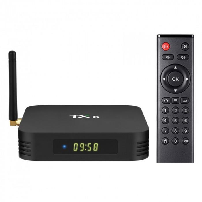 Smart TV Box TX6 Android 9.0 MiniPC 4GB RAM, 64GB ROM Wifi, Quad Core, MiniPC Allwinner H6, USB 3.0, Bluetooth 4.2, UltraHD 4K