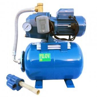 Hidrofor cu ejector, 24L, adancime 25 m, Filov CQ225/24, corp pompa din fonta foto