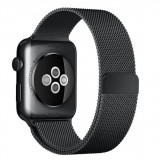 Cumpara ieftin Curea iUni compatibila cu Apple Watch 1/2/3/4/5/6, 42mm, Milanese Loop, Otel Inoxidabil, Black