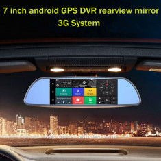"Oglinda Navigatie GPS 7""Harti 2018 Turism/Camion/BUS TMC WiFi 3G Dual DVR Camera, Toata Europa, Lifetime, LodeStar"