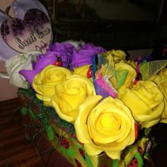 Trandafiri de sapun - Aranjament Sertarul cu trandafiri - OKAZIE