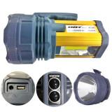 Lanterna Profesionala LED 15W + COB LED, slot USB, 220V DAT AT399