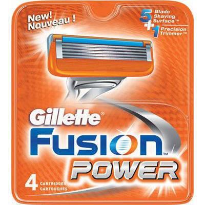 Rezerva aparat de ras Gillette Fusion Power 4 buc foto