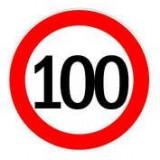 Autocolant limitator viteza 100km/h - Ø18cm ManiaMall Cars, Cridem