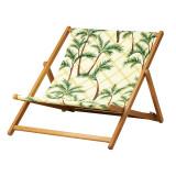Scaun pliabil pentru plaja, lungime 129 cm, model palmier