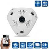 Camera video 3D, vedere panoramica HD 360, VR CAM, NightVision