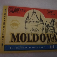 Eticheta bere Romania - MOLDOVA - Iasi  !