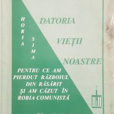 HORIA SIMA PENTRU CE AM PIERDUT RAZBOIUL VASILE PARVAN DATORIA VIETII NOASTRE 68