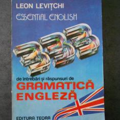 LEON LEVITCHI - GRAMATICA ENGLEZA