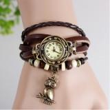 Cumpara ieftin Ceas de dama Retro Vintage CS582, curea din piele, culoare maro