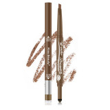 Cumpara ieftin Creion Sprancene 2 in 1 Eye Secret Eyebrow Pencil Glitter Eyebrow Kiss Beauty Light Brown