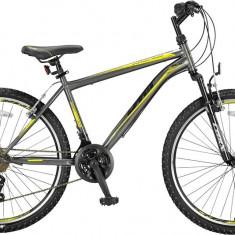 "Bicicleta MTB Umit Kronos V, Culoare Negru/Galben Roata 26"" , OtelPB Cod:2647100000, V-brake"