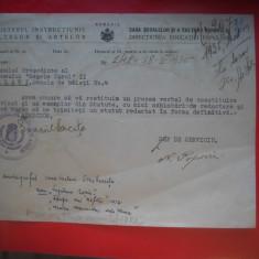 HOPCT DOCUMENT VECHI NR 288 MINISTERUL CULTELOR SI ARTELOR 1935 BUCURESTI