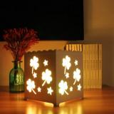 Lampa decorativa cu lumini colorate - trifoi