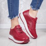 Pantofi Piele sport dama visinii Salira -rl
