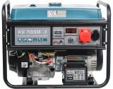 Cumpara ieftin Generator curent trifazat KS 7000E-3 Könner & Söhnen, benzina, 5.5 kW, 13 cp, autonomie 17h, E-start, regulator tensiune AVR, 1x16A (230V), 1x16A (400