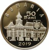 Moneda Romania 50 Bani 2019 - Proof ( 550 ani Mănăstirii Putna ), Alama