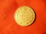 Moneda 20 kop. 1874 Rusia ,argint ,cal. f.buna, Europa
