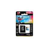 Card Silicon Power microSDHC Superior Pro 64GB UHS-I U3 Clasa 10 cu adaptor SD