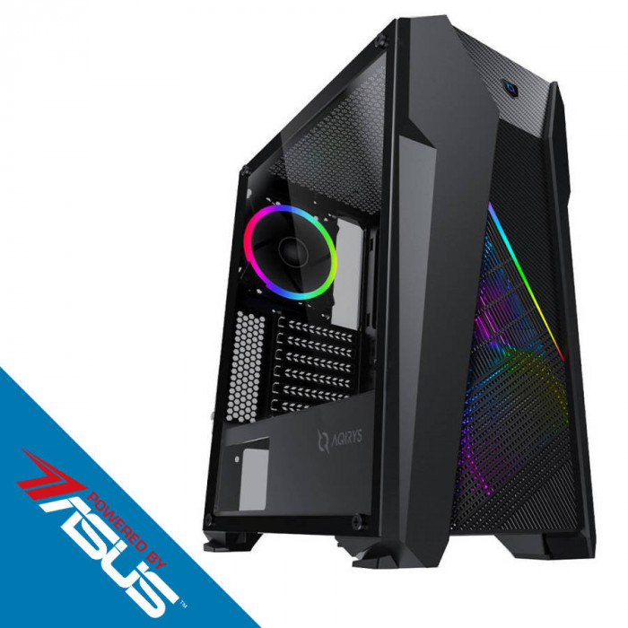 Sistem Gaming Titan v2 Powered by ASUS Intel Core i3-9100F Quad Core 3.6 GHz 8GB RAM DDR4 SSD 240GB nVidia GeForce GTX 1650 SUPER TUF Gaming O4G GDDR6