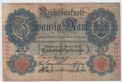 20 MARCI GERMANIA 19 FEBRUARIE 1914/F foto