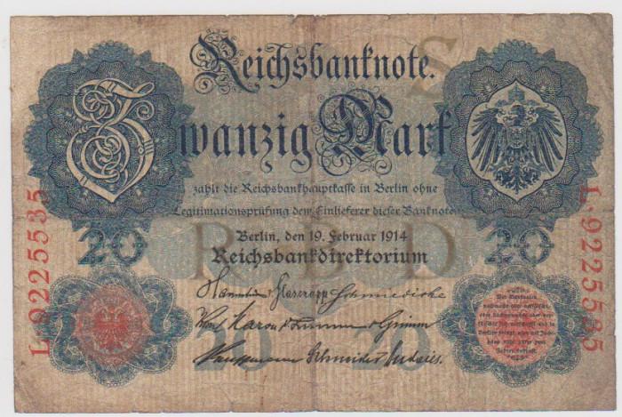 20 MARCI GERMANIA 19 FEBRUARIE 1914/F