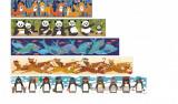 Set 10 puzzle-uri progresive 1,2,3..10 pinguini, Londji