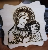 Icoana Sfanta Maria individual specială gravată